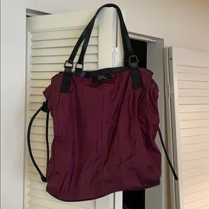 Burberry Buckleigh Nylon & Leather Tote